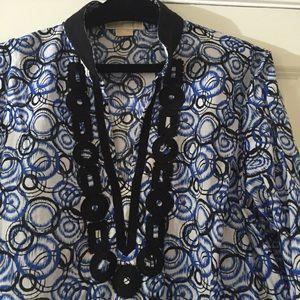 Michael Kors embellished neckline tunic top
